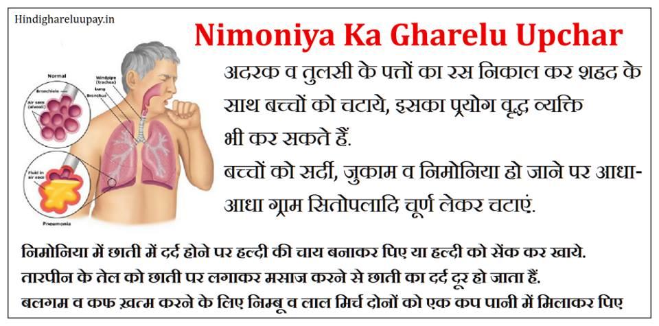 nimoniya ka ilaj, nimoniya ka ilaj in hindi, pneumonia treatment in hindi , nimonia ka gharelu ilaj in hindi