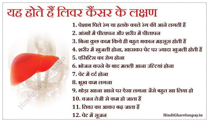 liver cancer ke lakshan, liver cancer ke lakshan in hindi