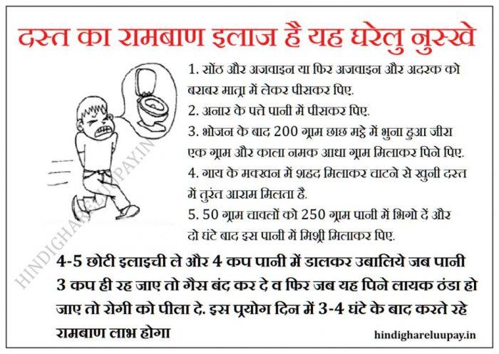 dast ka ilaj, dast ka ilaj in hindi, dast rokne ke upay, dast treatment in hindi