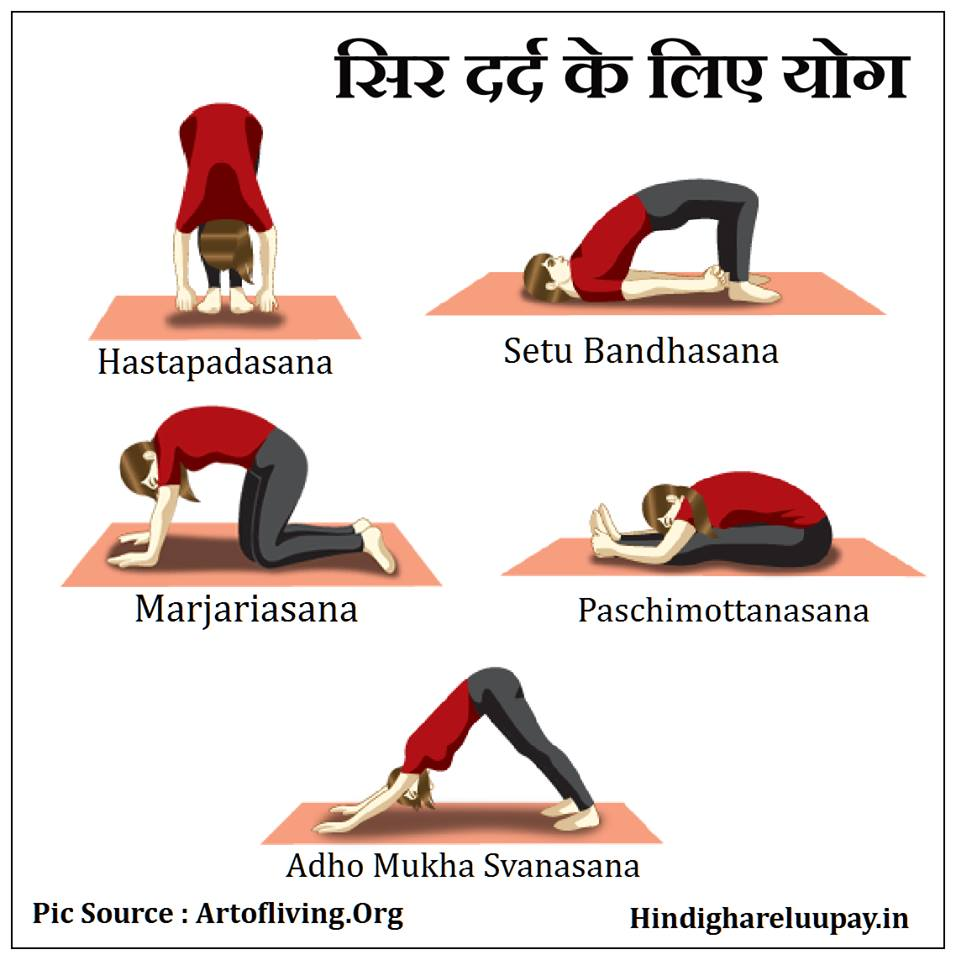 sir dard ke liye yoga
