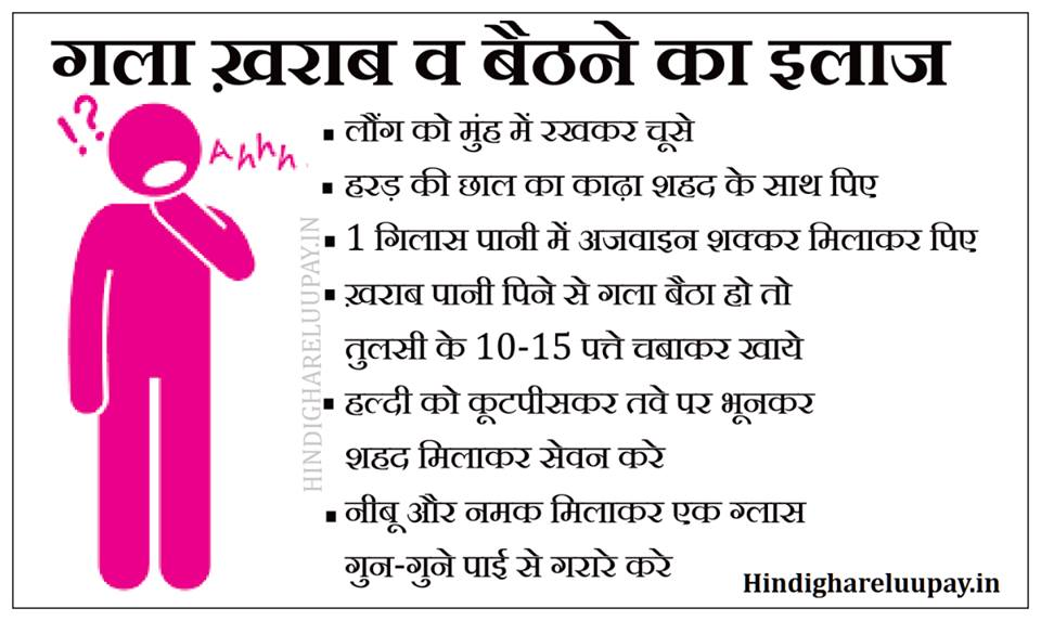 गला बैठने का इलाज, gala kharab ka ilaj in hindi, gala kharab medicine